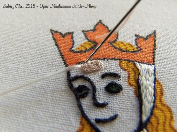 Opus Anglicanum Stitch-Along 081, by Sidney Eileen