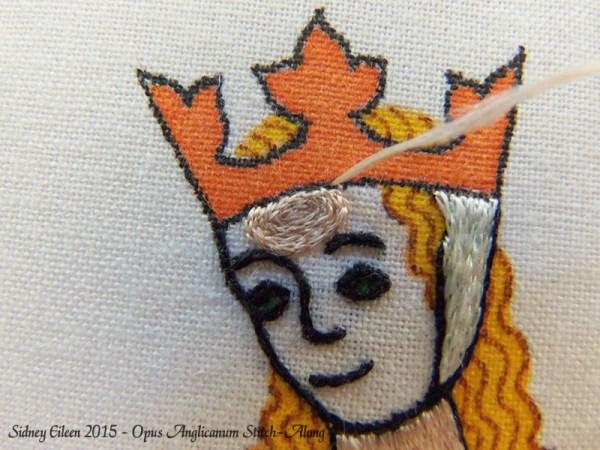 Opus Anglicanum Stitch-Along 084, by Sidney Eileen