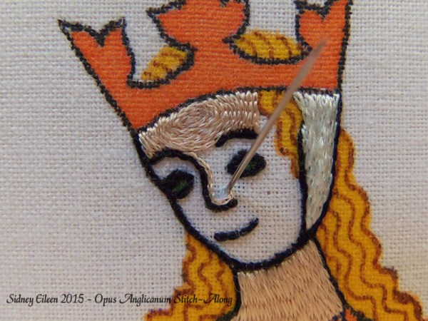 Opus Anglicanum Stitch-Along 092, by Sidney Eileen