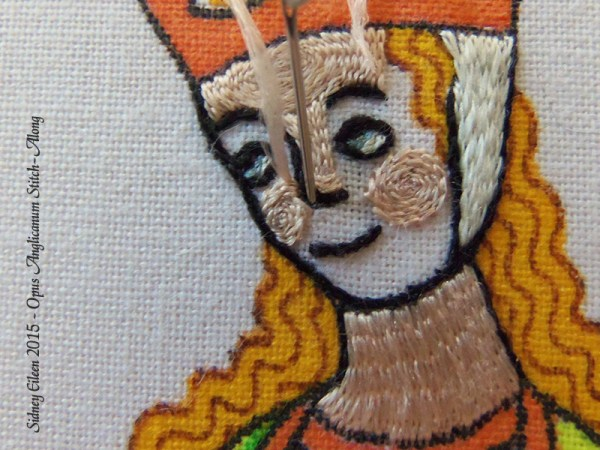 Opus Anglicanum Stitch Along - 122, by Sidney Eileen