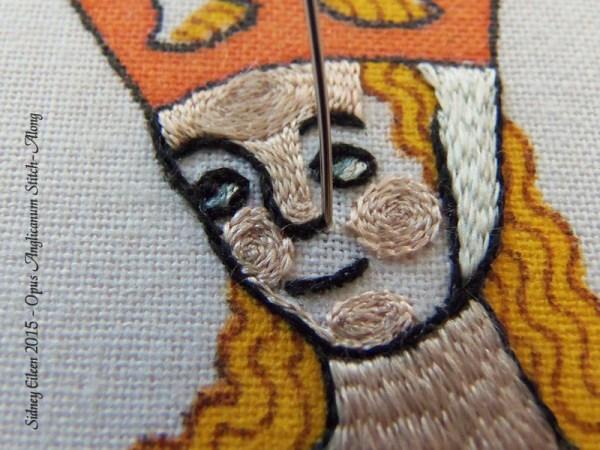 Opus Anglicanum Stitch Along - 129, by Sidney Eileen