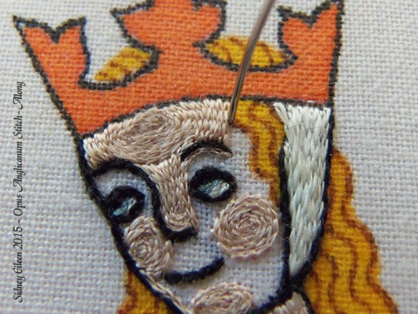 Opus Anglicanum Stitch Along - 131, by Sidney Eileen