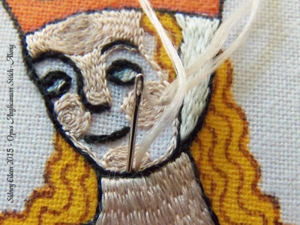 Opus Anglicanum Stitch Along - 134, by Sidney Eileen