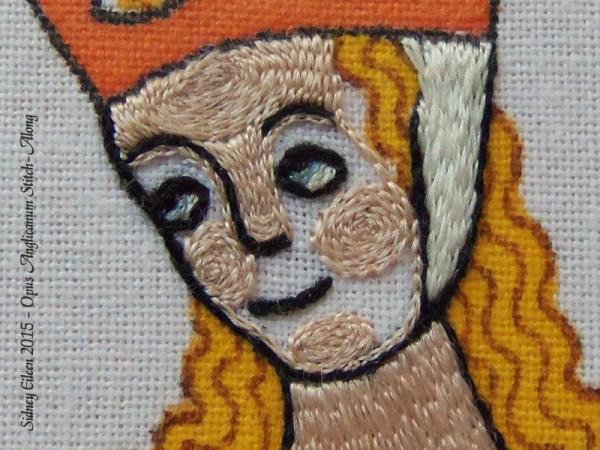Opus Anglicanum Stitch Along - 136, by Sidney Eileen