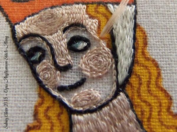 Opus Anglicanum Stitch Along - 138, by Sidney Eileen