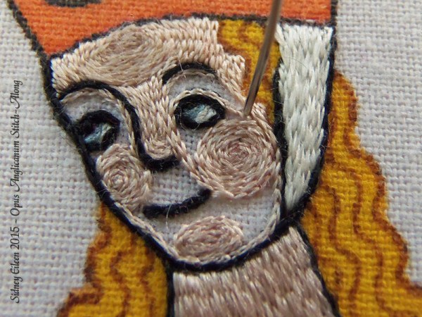 Opus Anglicanum Stitch Along - 144, by Sidney Eileen