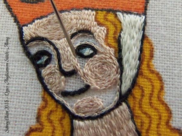 Opus Anglicanum Stitch Along - 145, by Sidney Eileen