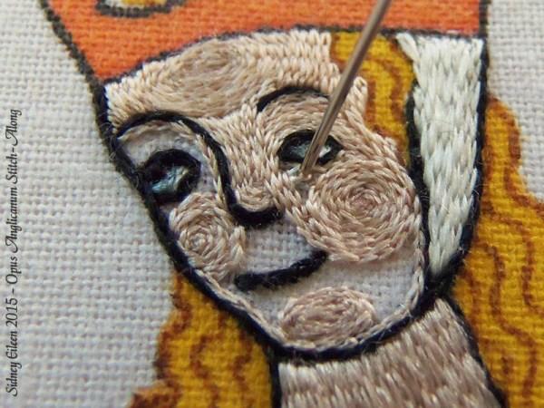 Opus Anglicanum Stitch Along - 151, by Sidney Eileen
