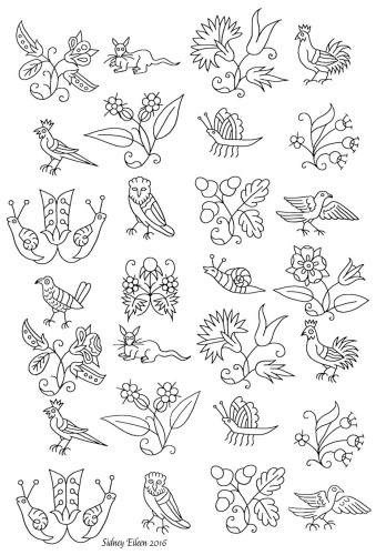 Freehand Blackwork Embroidery Patterns By Sidney Eileen