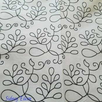 Elizabethan Blackwork Barberry on Spoonflower Fabric