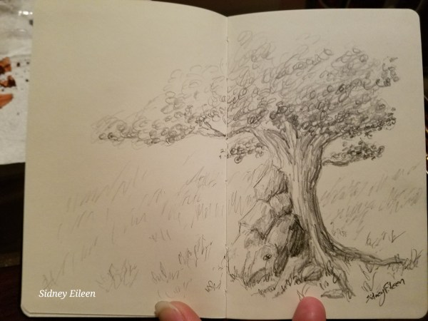 Tiny Sketchbook: Graphite Tree