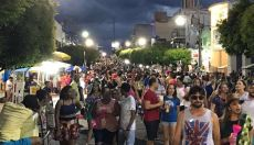 Foliões nas ruas de Caicó