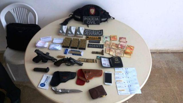 Operação Impacto da Polícia Civil prende mais um suspeito com armas e munições