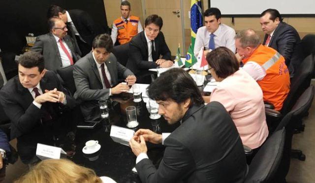 Audiência no Ministério da Integração com parlamentares e o governador do RN