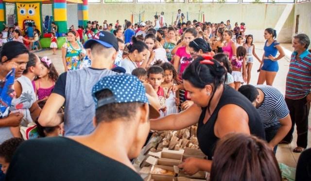 Natal Solidário reúne mais de 400 crianças em Parelhas