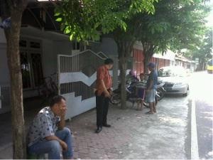Petugas sedang olah tempat kejadian perkara di rumah korban yang dibobol pencuri