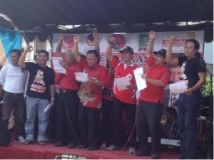 Relawan sektor Waru saat deklarasi dukung Jokowi-JK