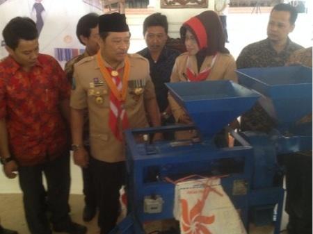 Mesin selep padi hasil karya Himpisda yang siap dipasarkan