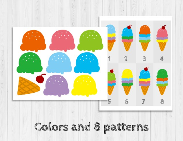 (限時免費下載)冰淇淋顏色配對遊戲
