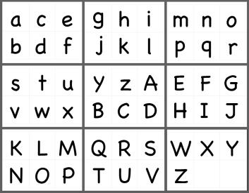 英文字母大小寫字卡 PDF 檔Chalkboard字型