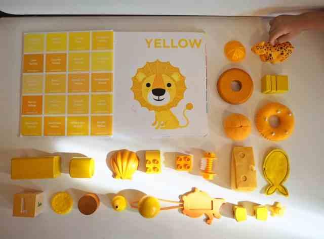 認識色票顏色小遊戲-黃色