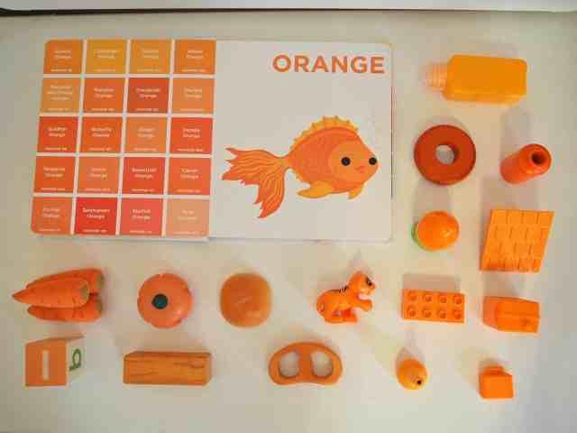 認識色票顏色小遊戲-橘色