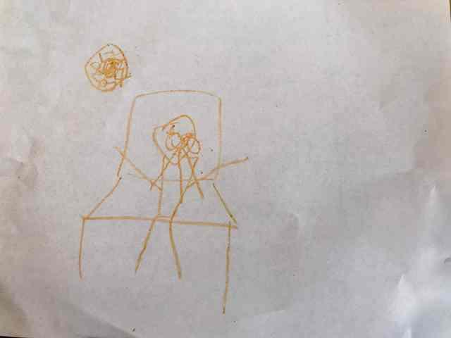 透視畫法的椅子