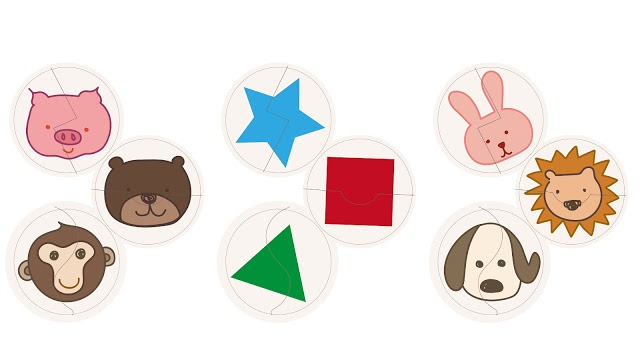 DIY自製拼圖 寶寶拼圖 動物與形狀拼圖 cardboard puzzle cover