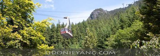 Hiking up Grouse mountain