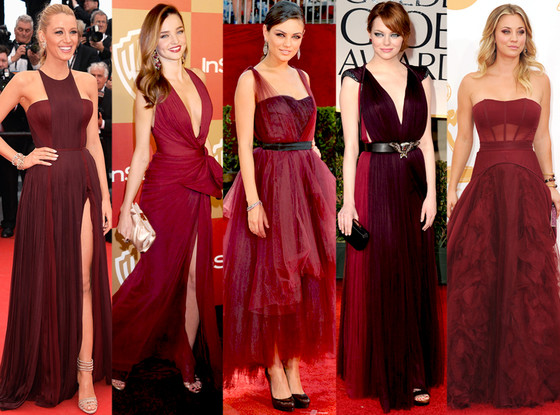 Marsala Color at Red Carpet