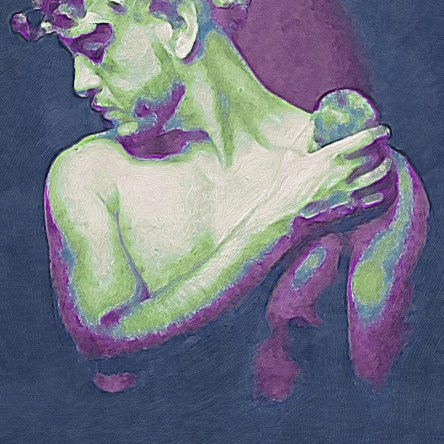 Adam eve and apple of politics illustration