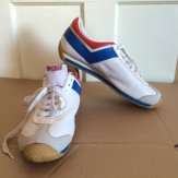 deadstock official Olympics 1976 leather Pony trainer red white and blue