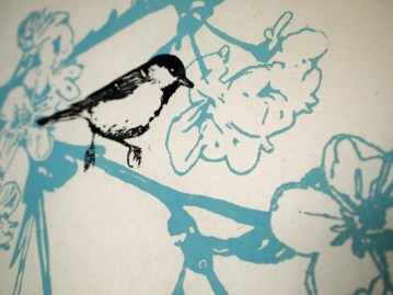 Detail of Cherry Blossom Print, 2010, Linocut Print on Kitakata Washi, Limited Edition of 15