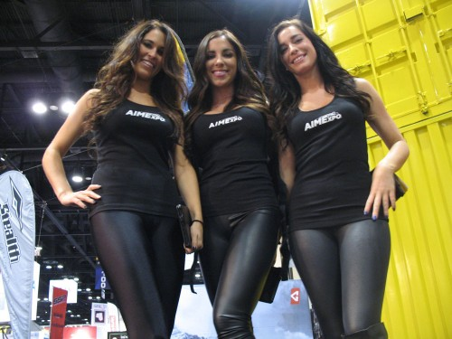 AIMExpo booth girls get the party started in Orlando.