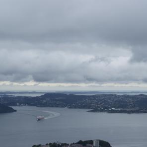 Blick auf die Fjorde Bergen