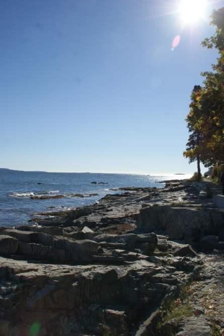 Zerklüftete Felsenküste Shore Path