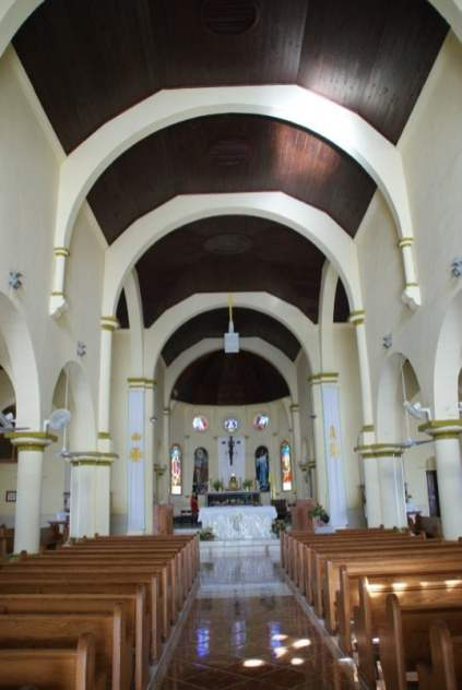 Innenraum der Cathedral of the Immaculate Conception auf St. Kitts