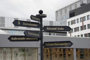 Wegweiser Alesund