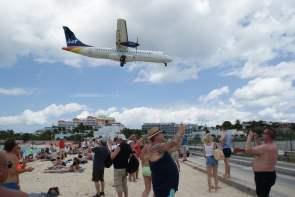 Maho Beach Sint Maarten Liat Airline
