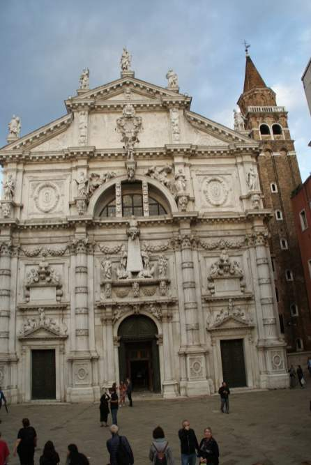 Chiesa di San Moise in der Nähe vom Markusplatz