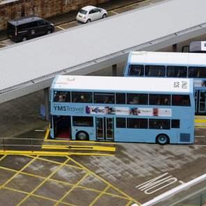 Dover Hafen Shuttle Bus Blauer Doppeldecker