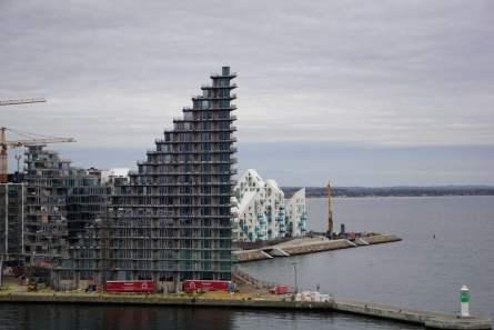 Neues Wohnviertel am Hafen Aarhus