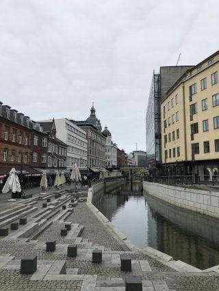 Aarhus A in der Fußgängerzone Aarhus