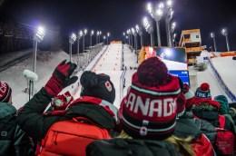 foule canada ski de bosses olympique spectateur - PyeongChang, le ski de bosses! - Un petit saut aux Olympiques - Asie, Corée du Sud