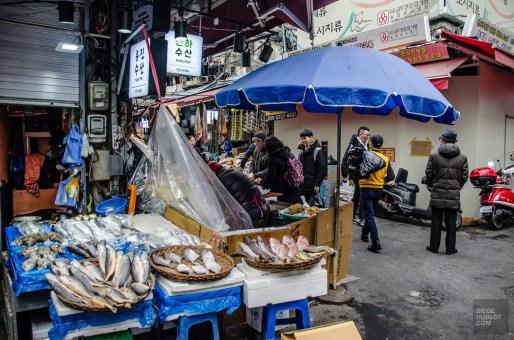 namdaemoun poisson marche - Seoul - Un petit saut aux Olympiques - Asie, Corée du Sud