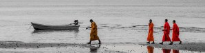 moines plage - Un paradis secret, Koh Rong Samloem, Cambodge - Asie, Cambodge