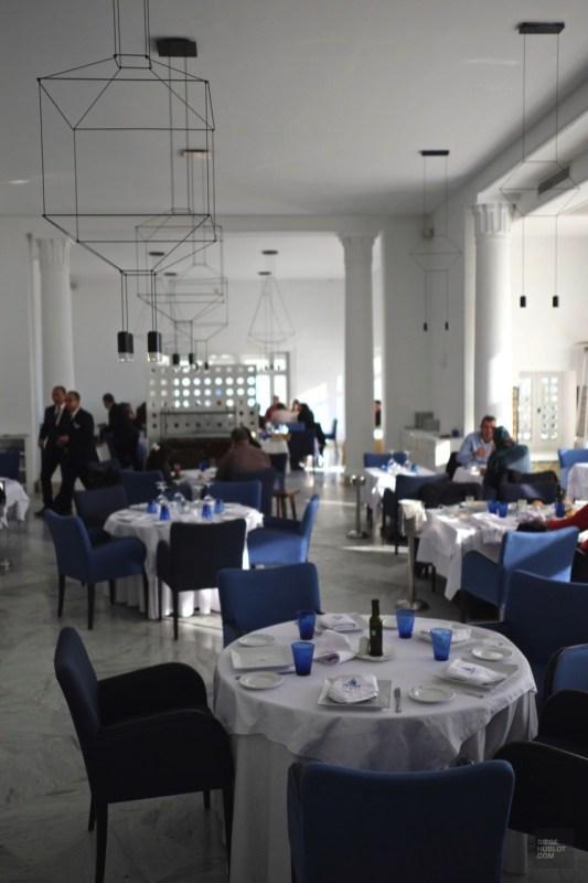 restaurant table sidi bou said - Dar Zarrouk - Tunisie, de la mer au désert - Afrique, Tunisie