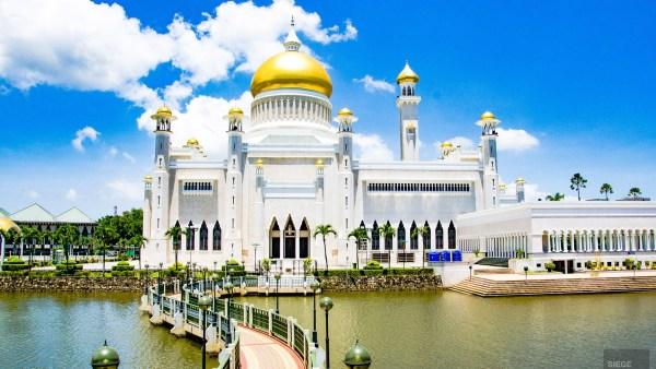 Mosquee Omar Ali Saifuddien - Sultanat de Brunei Darussalam - Asie, Brunei