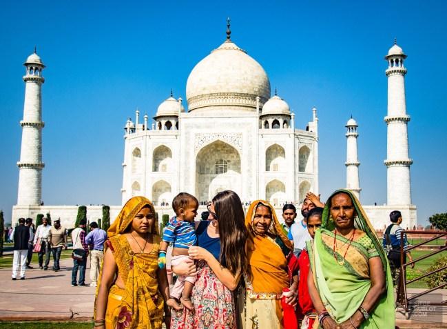 famille Indienne taj mahal - agra - L Inde du Nord en quatre étapes - Asie, Inde