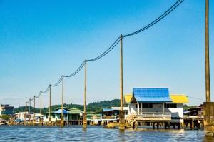 kampong ayer electricite - Sultanat de Brunei Darussalam - Asie, Brunei